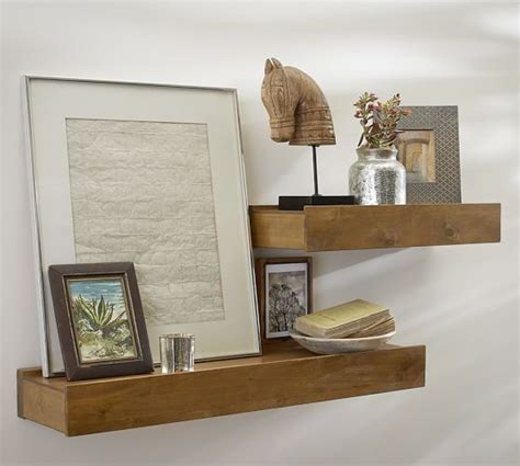 pottery barn wall shelves rustic wood shelves pottery barn