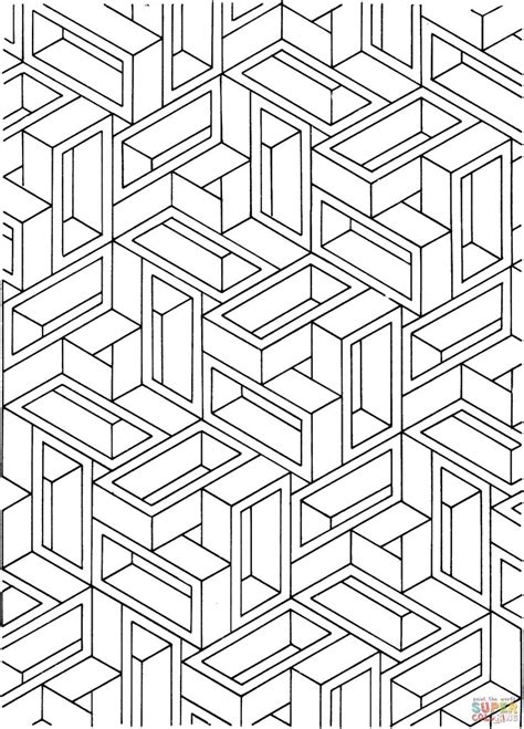 illusions coloring pages printable optical illusion coloring pages to download and print for