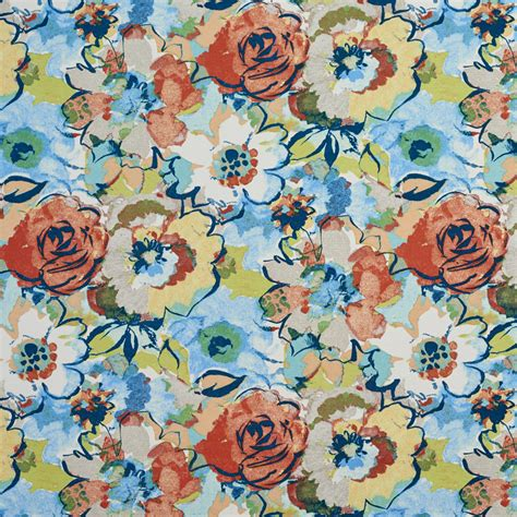 colorful upholstery fabric b043 multi colored abstract floral outdoor indoor
