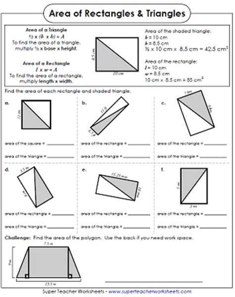 html non printable area area of triangles worksheets