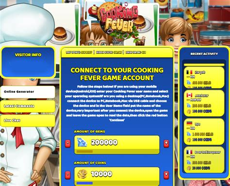 mod game cooking fever cooking fever hack cheat online generator gems and coins