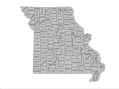 missouri map county lines county map county plat map county