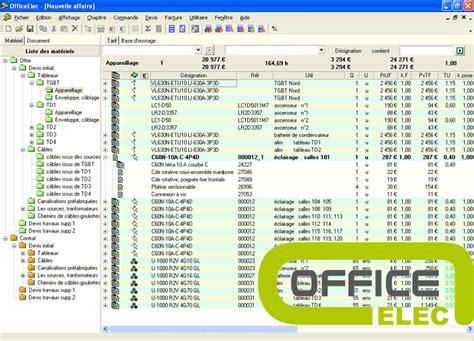 comment faire un devis electrique 3837 office elec logiciel de chiffrage d installations