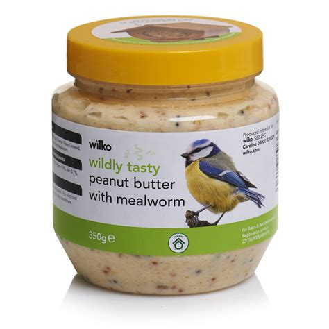 wilko wild bird butter with peanut and mealworm 350g