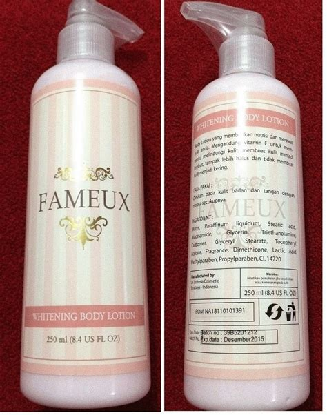 Sabun Fameux fameux lotion pemutih kulit secara alami