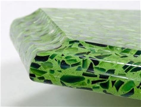 Green Glass Countertops by Pros And Cons Of Crushed Glass Countertops Countertop Guides
