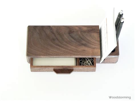 Wood Desk Organizer Home Office Organizer Wooden Desk Organizer With By Woodstorming