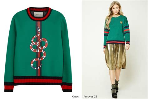 Forever 21 Jump On The Alike Bandwagon by Recap The Year Of All Things Gucci Sidewalk Hustle