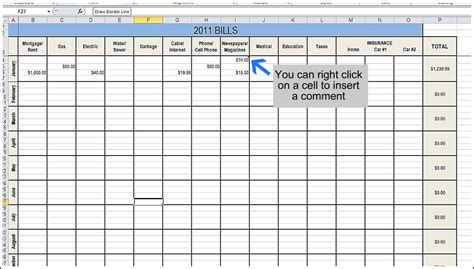 bills template best photos of monthly bill spreadsheet monthly bill