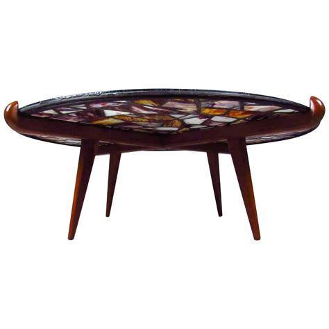 Modern Stained Glass Table Ls by Mid Century Modern Walker Stained Glass Coffee Table
