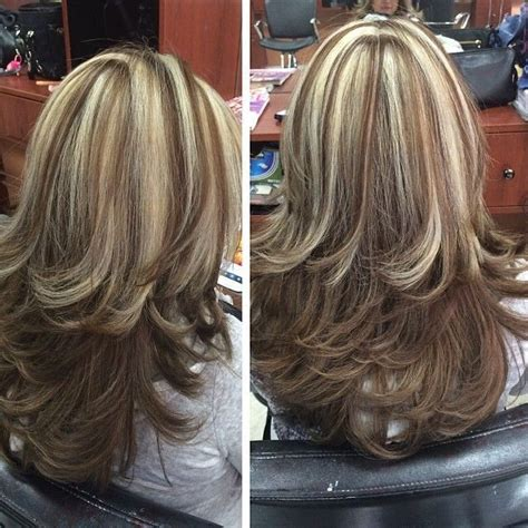 short hairstyles with frosted highlights chunky highlights highlighted streaked foiled