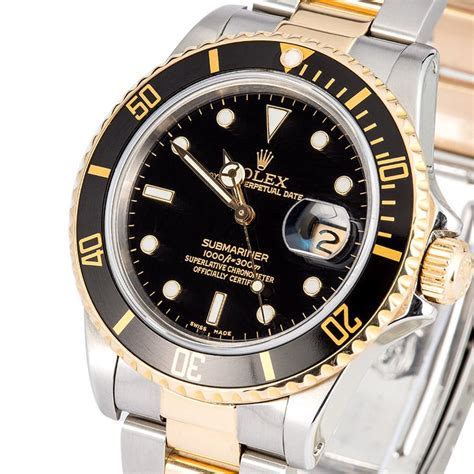 Rolex Oyster Submariner 2 rolex two tone oyster submariner 16613