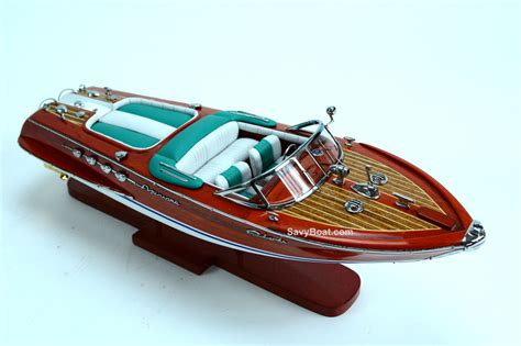 Handmade Boat - riva aquarama speed boat green 20 quot handmade wooden model
