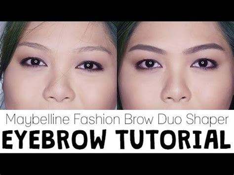 Maybelline Pensil Alis Fashion Brow Duo Shaper eyebrow tutorial with maybelline fashion brow duo shaper castro