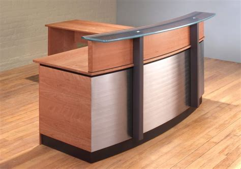 stainless steel reception desk stainless steel reception desk l shaped reception desk