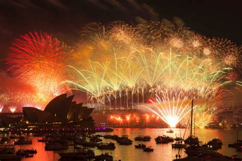 new year traditions in australia fireworks seen from mrs macquaries point abc news