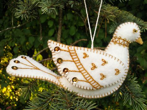 pattern for felt dove ornament white and gold wool felt dove ornament wool felt bird
