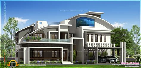 modern luxury house designs contemporary luxury house elevation in 4280 square