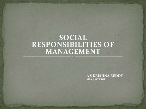 Social Responsibility In Business Boston Mba by Social Responsibility Of Business Organisation