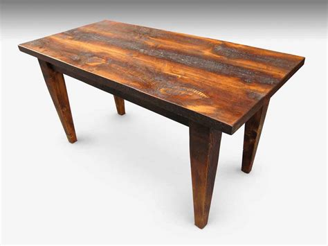 Handmade Farm Tables - custom rustic farm table with tapered legs olde things