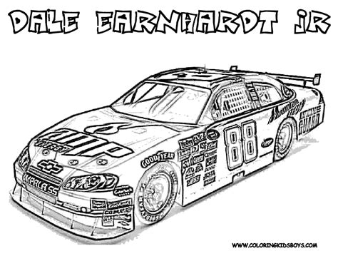 hard coloring pages coloring pages cars nascar free