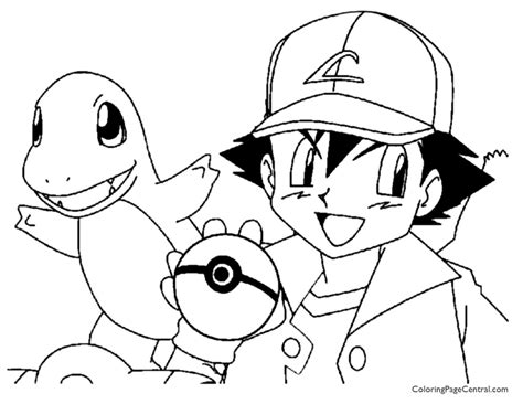 pokemon ash coloring pages images pokemon images