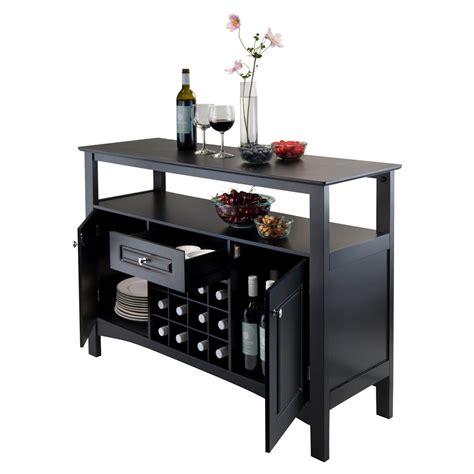 For Bar Buffet Winsome Wood Jasper Storage Buffet Ca Home Kitchen