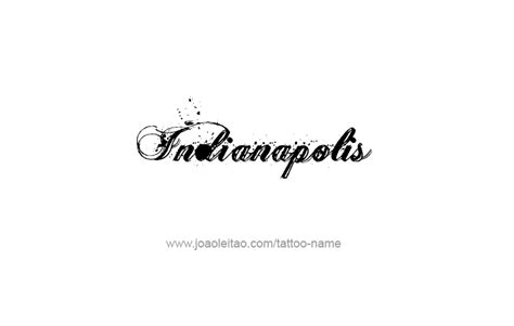 tattoo capital of the us indianapolis usa capital city name tattoo designs page 4