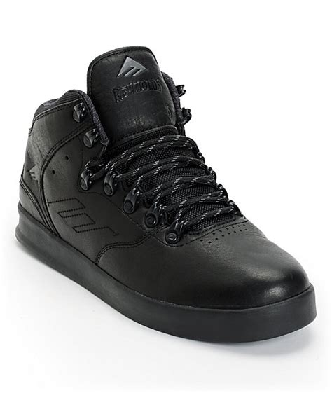 emerica the lx black ops leather skate shoes zumiez