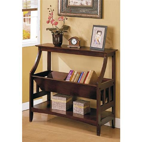 hallway table bookshelf entry console wood end sofa accent