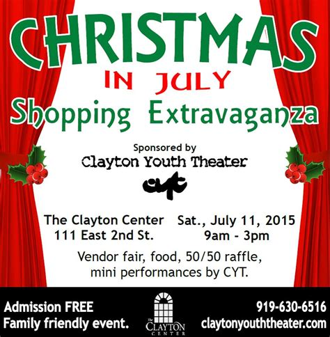 christmas in july shopping extravaganza the clayton