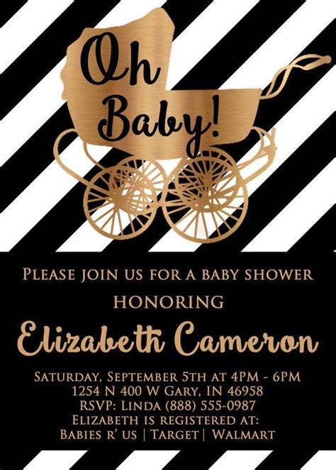 And Black Baby Shower Invitations by Black And White Baby Shower Invitations Black By