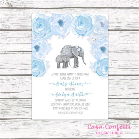 Baby Elephant Shower Invitations by Elephant Baby Shower Invitations Boy Www Pixshark