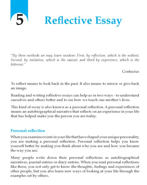 Conclusion Reflective Essay by Grade 9 Reflective Essay Writing Skill Writing Skills School And Narrative Writing