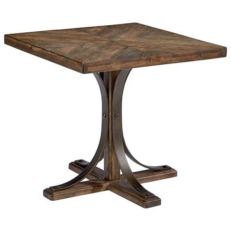 metal pedestal table base wood top end table with metal pedestal base by magnolia
