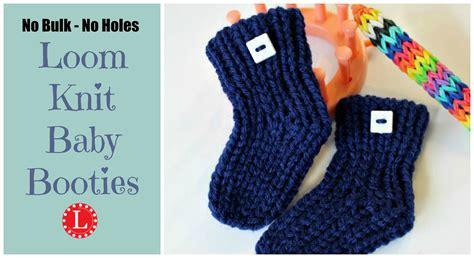 loom knitting baby booties loom knit baby booties project with pattern no holes no