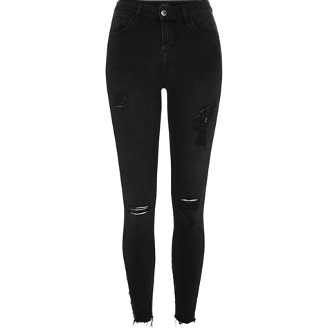 ripped black jeans womens bod jeans black washed amelie super skinny ripped jeans skinny