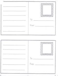 printable area postcard 17 best images about dramatic play post office on