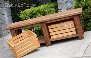 how to build a simple bench for outside diy outdoor storage benches the garden glove