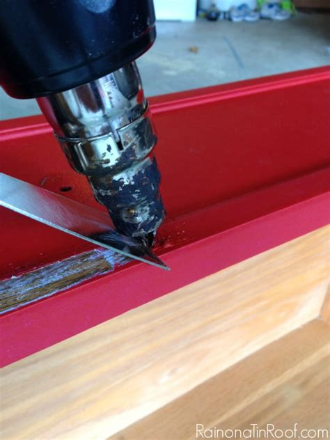 Removing Paint From Metal Furniture by How To Furniture And Restain It