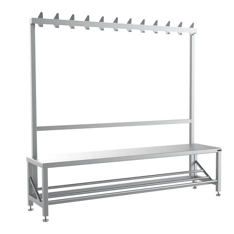 changing room benches with hooks single sided changing room bench with coat hook rail uk