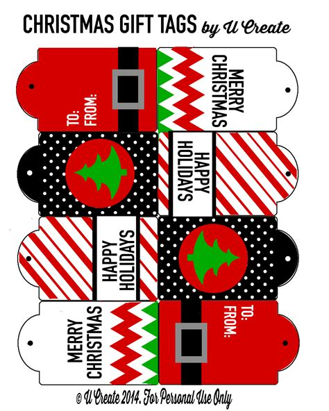 free printable christmas tags u create