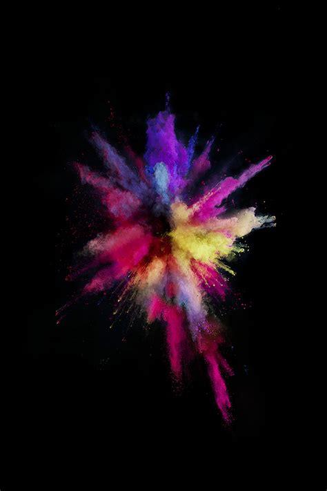 apple color rainbow red dark spark ios papersco