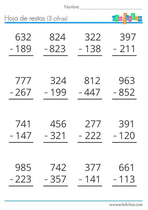 imagenes matematicas gratis descarga nuestro cuadernillo de restas gratis en pdf