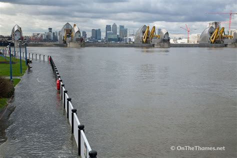 Thames Barrier Scheduled Closure | thames barrier is closed for first time this winter due to