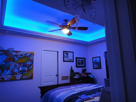 blue bedroom lights bedroom led string lights mike davies s home interior
