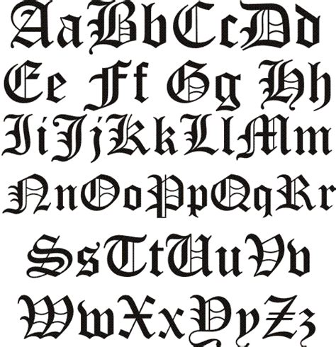 tattoo fonts russian letters