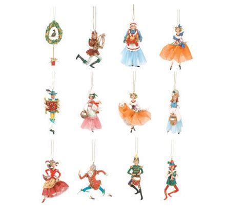 fitz and floyd 12 days of christmas ornaments qvc com