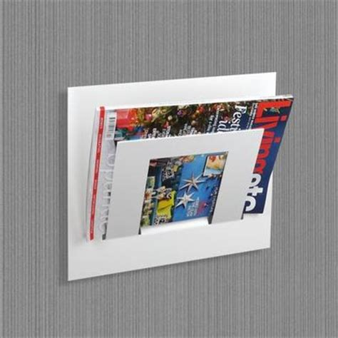 White Wall Magazine Rack by Single Tier Wall Mounted Metal Magazine Rack White