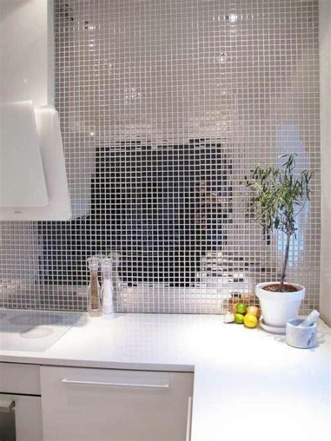 mirror tile backsplash kitchen silver mirror tile backsplash interior design
